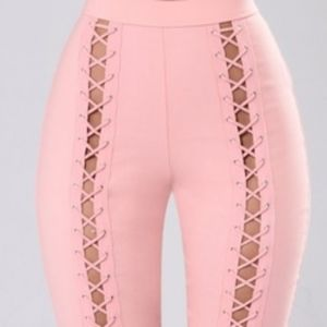 Pink Laced Pants